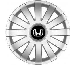 "Poklice kompatibilné na auto Honda 14"" AGAT silver"