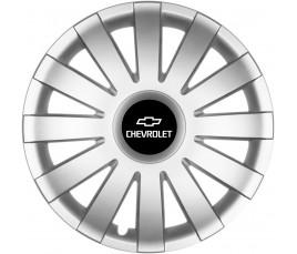 "Poklice kompatibilné na auto Chevrolet 14"" AGAT silver"