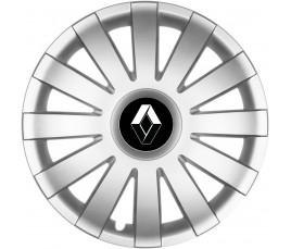 "Poklice kompatibilné na auto Renault 15"" AGAT silver"