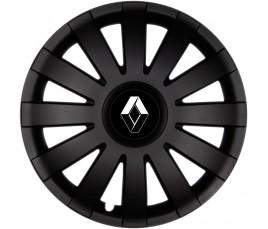"""Poklice kompatibilné na auto Renault 15"""" AGAT černé"""