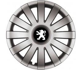 """Poklice kompatibilné na auto Peugeot 15"""" AGAT grafitové"""