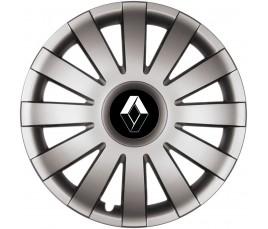 "Poklice kompatibilné na auto Renault 15"" AGAT grafitové"